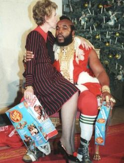 Mr T and Nancy Reagan