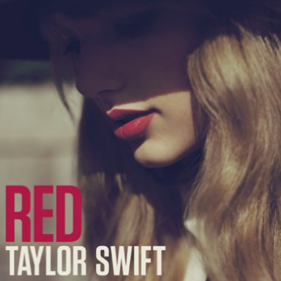 "The album cover of Taylor Swift's ""Red."""