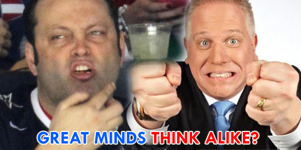 Glenn Beck and Vince Vaughn