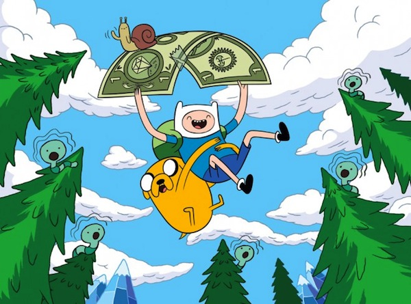 adventure time money