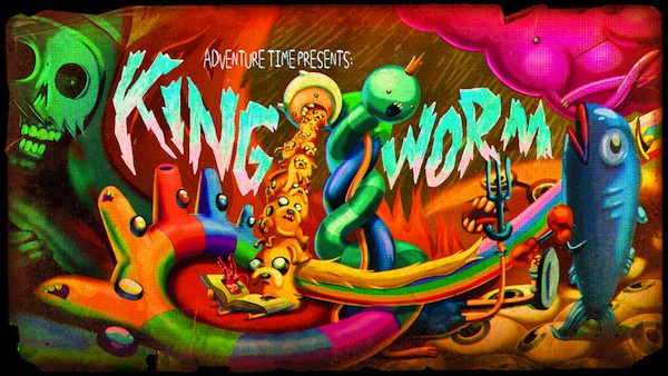 adventure time title card trippy