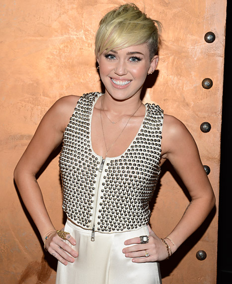 Pop star Miley Cyrus. 