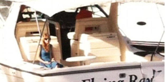 Taylor Swift on a boat