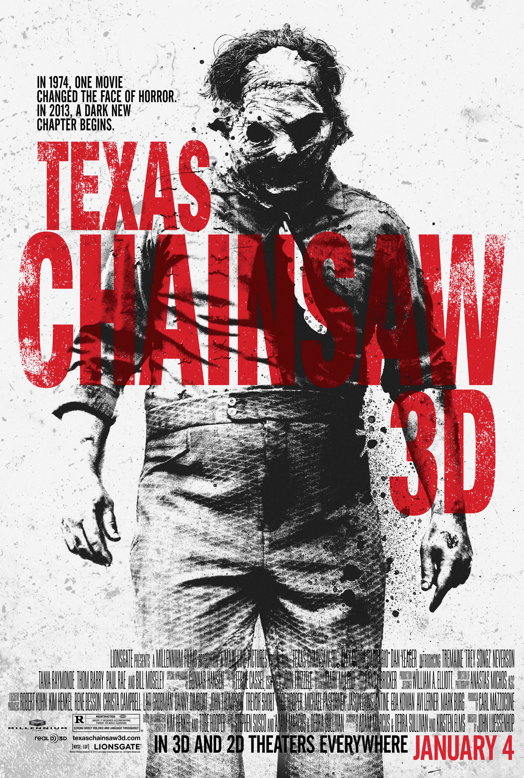 The poster for Texas Chainsaw 3D.