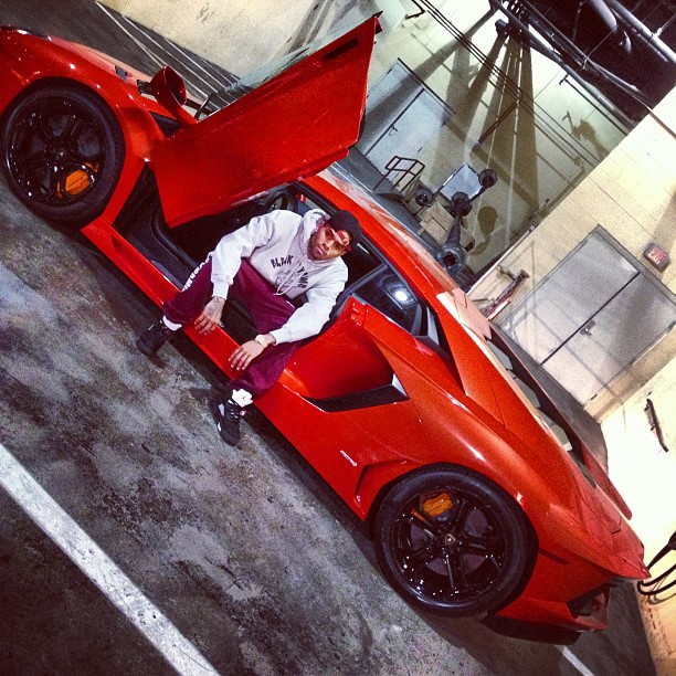 Chris Brown lambo mercy