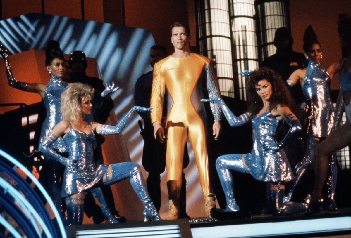 "Arnold Schwarzeneggar in ""The Running Man"""