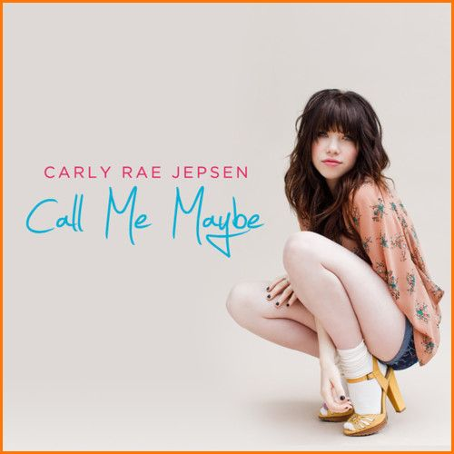"""Carly Rae Jepsen's """"Call Me Maybe"""" single cover."""