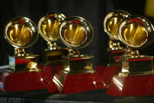 Grammy trophies.