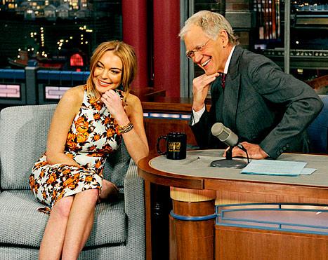 Lindsay Lohan On Letterman
