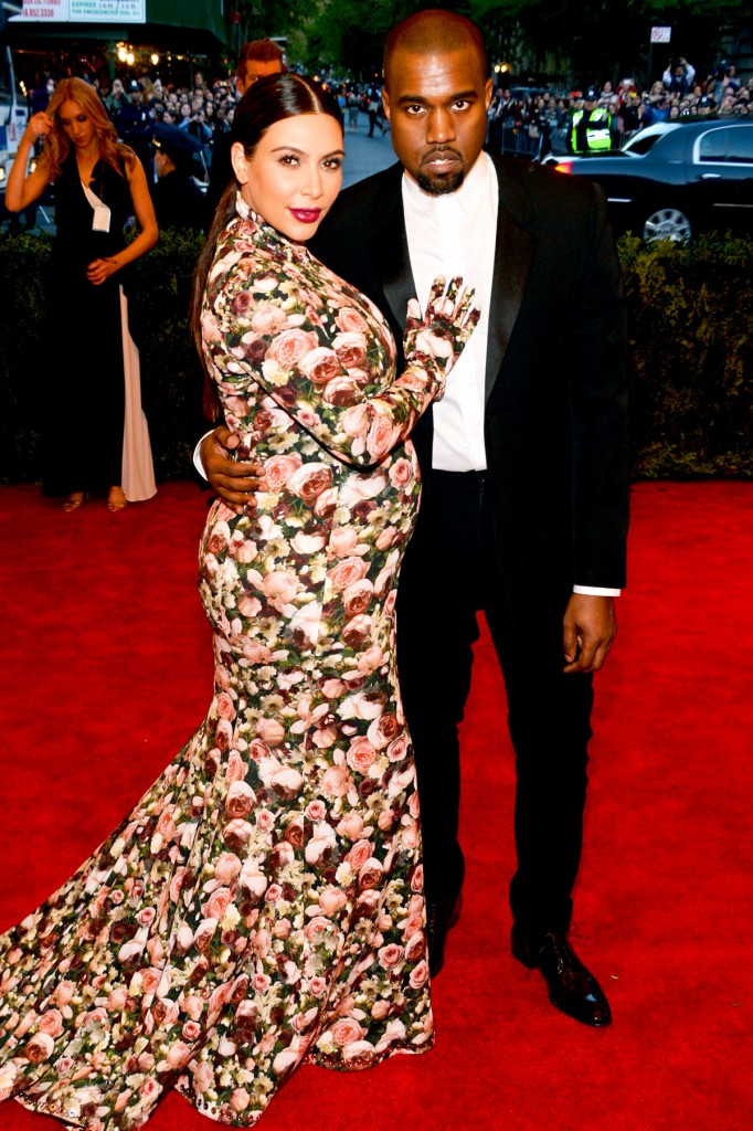 met gala kim kardashian and kanye west