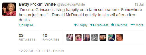 Betty white parody account