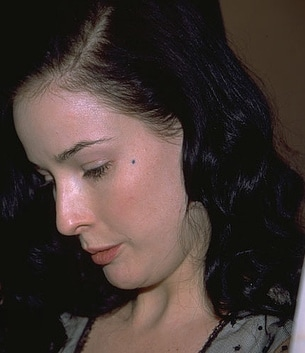 Dita Von Teese without makeup