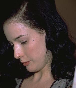 Dita Von Teese without makeup