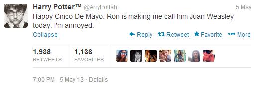 Harry Potter parody account