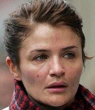 Photo of the beautiful friendly  Helena Christensen from Copenhagen, Denmark without makeup
