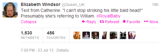 Queen parody account