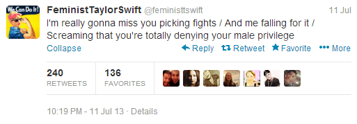 Taylor swift parody account