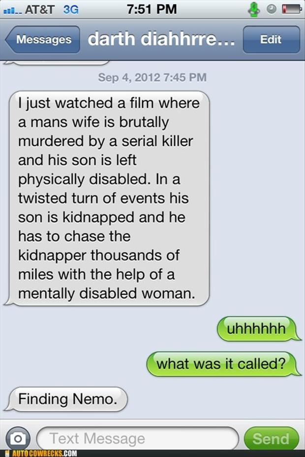finding nemo text