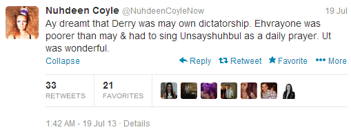 nadine coyle parody account