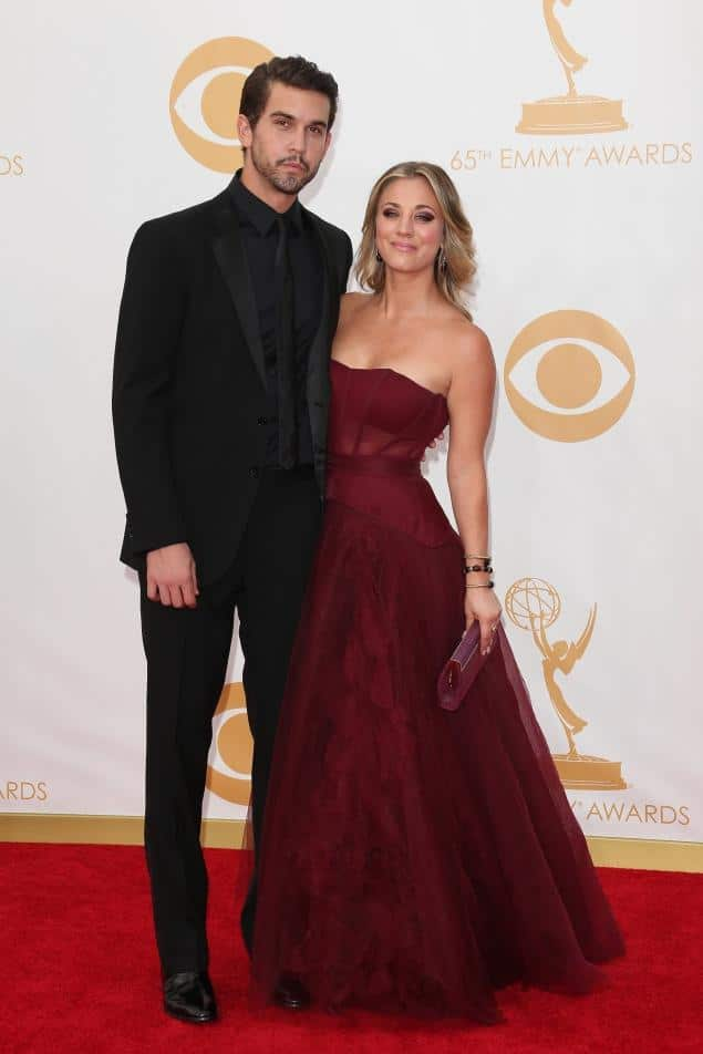 Kaley Cuoco and Ryan Sweeting Primetime Emmys 2013