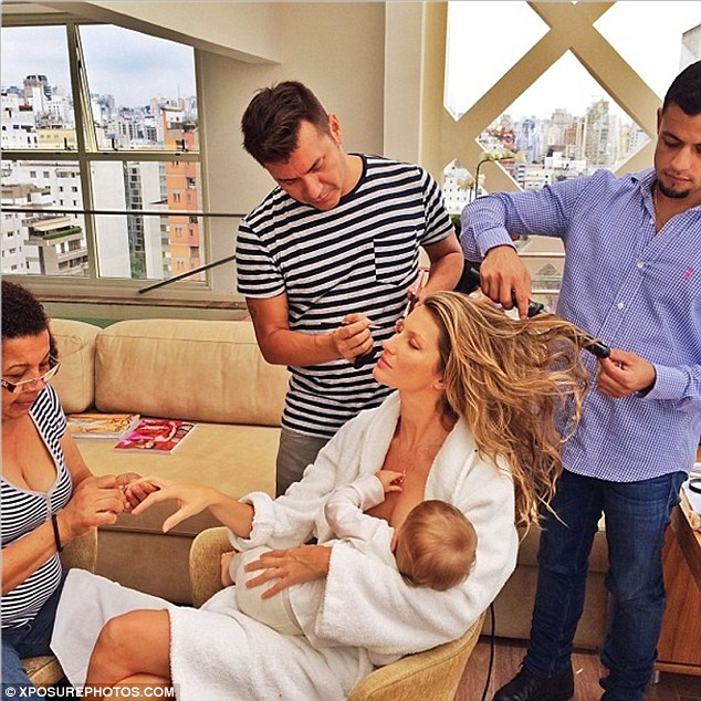 Gisele Bundchen Breastfeeding