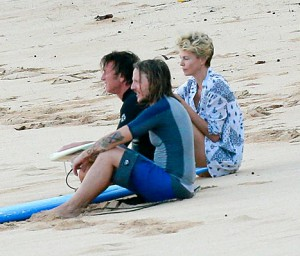 Sean Penn Charlize Theron Hawaii
