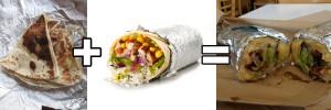 Chipotle burrito covered in quesadilla