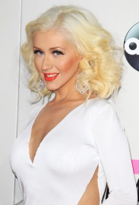 Christina Aguilera White Dress
