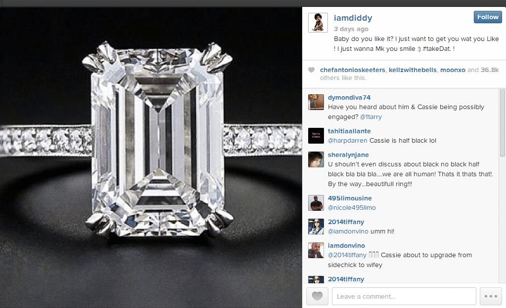 Diddy instagram ring