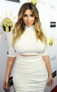 Kim Kardashian White Sweater Dress