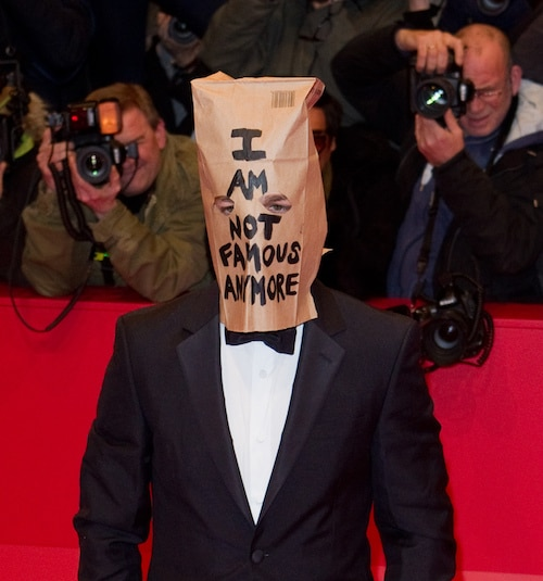 Shia LaBeouf Wearing A Paper Bag