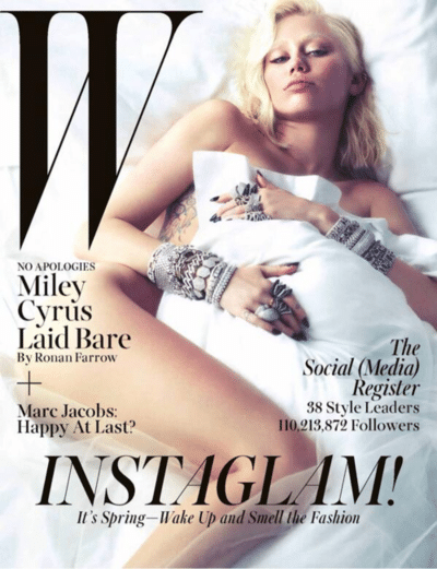 miley cyrus kind of hot w magazine