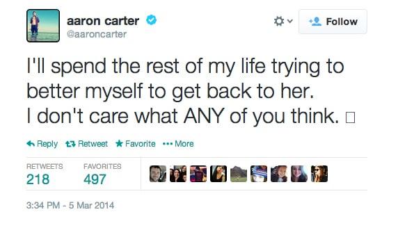 Aaron Carter Twitter Duff 2