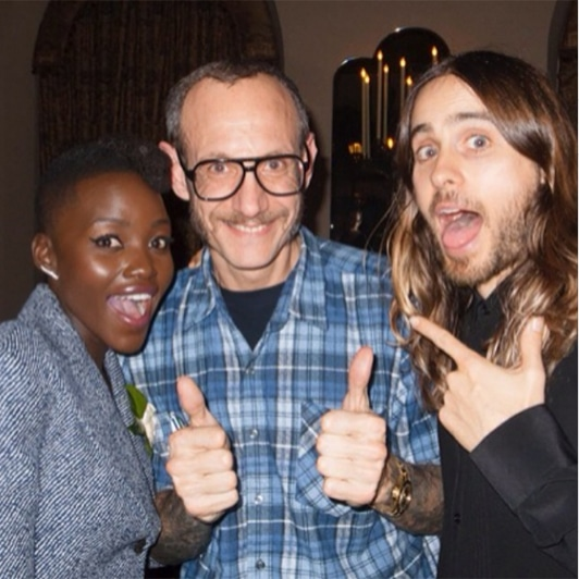 Lupita Nyong'o, Terry Richardson, Jared Leto
