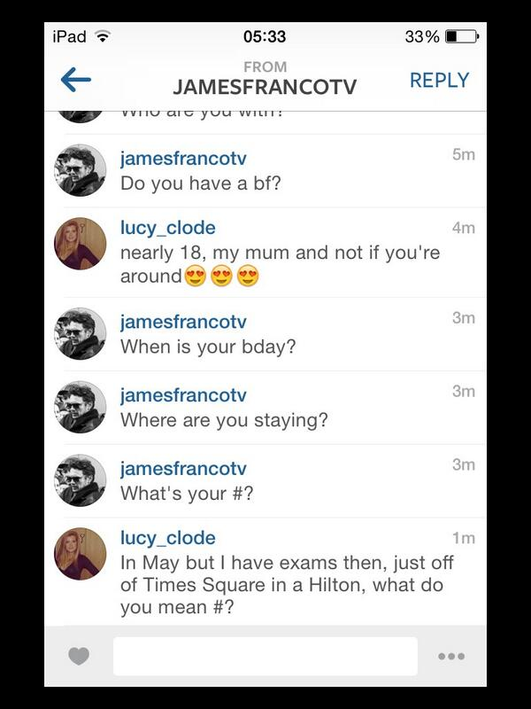 James Franco Instagram Convo 3