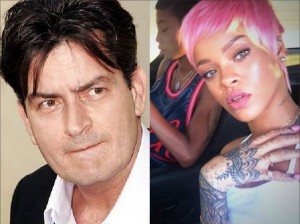 Charlie Sheen vs Rihanna