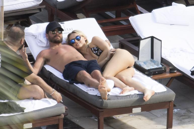 Scott disick and mystery blonde