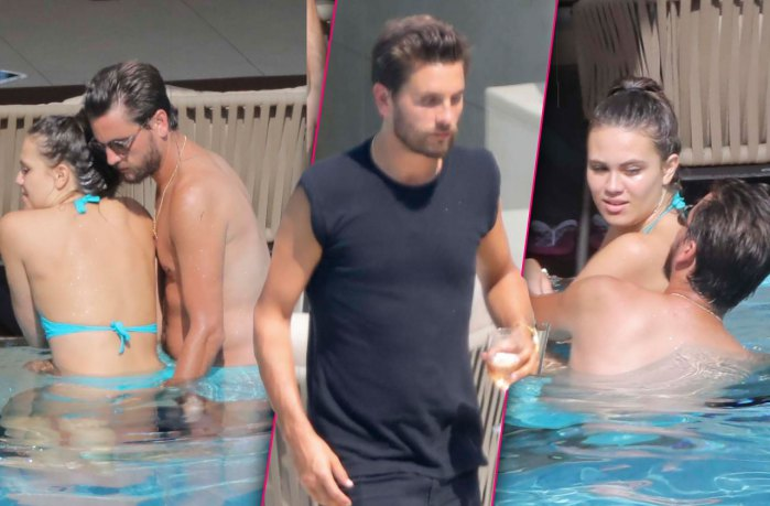 Scott disick shirtless cannes pool mystery woman pp