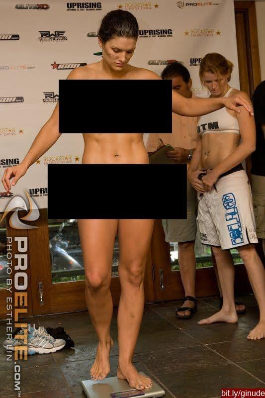 Gina carano weigh in pics